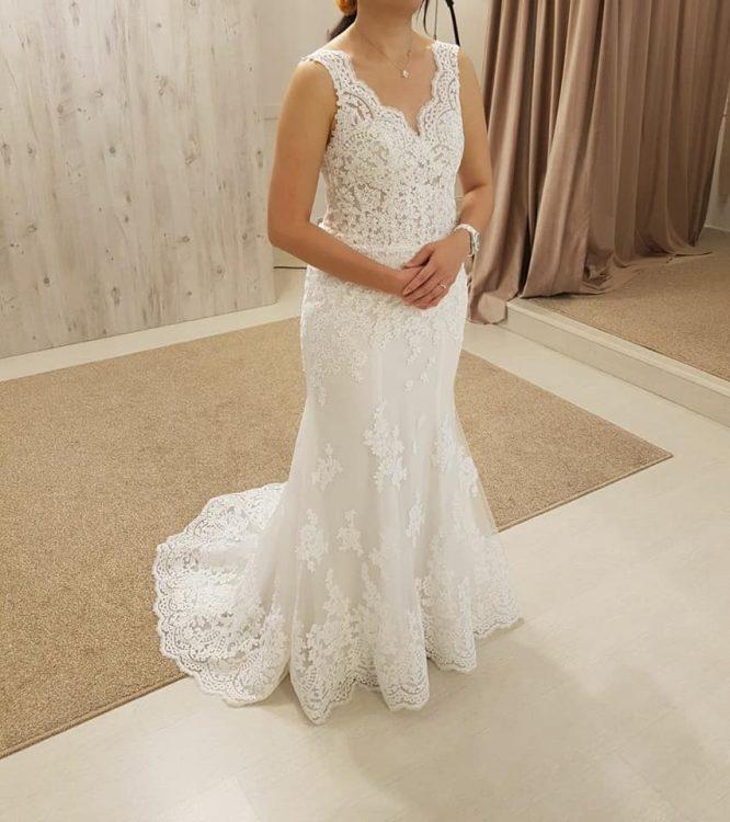 size 10 custom mermaid wedding dress | sell your wedding dress