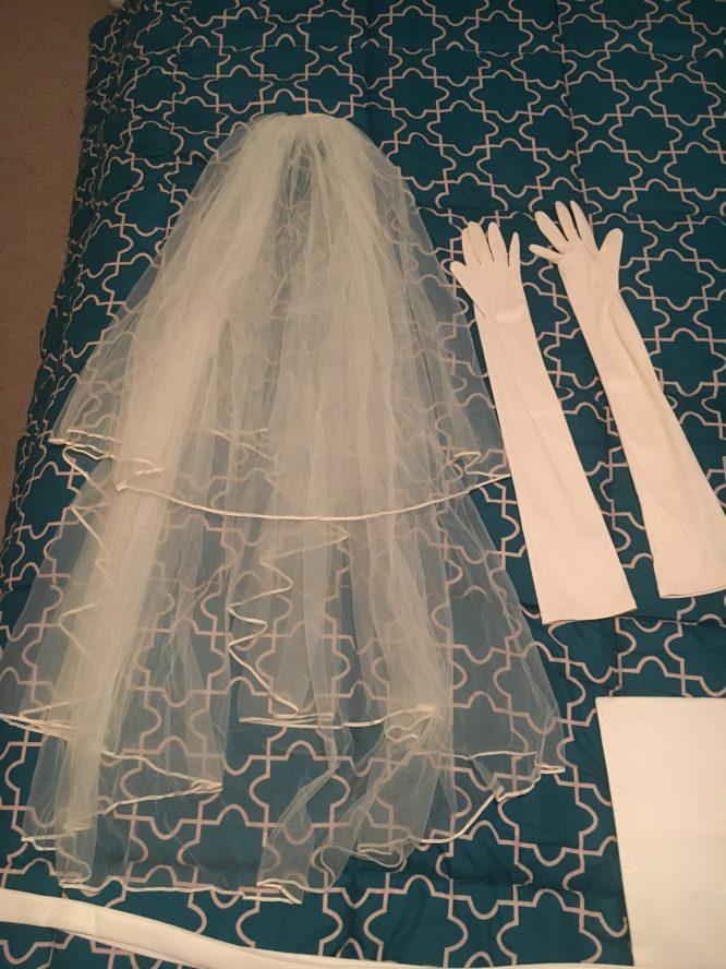 Full length wedding dress for sale