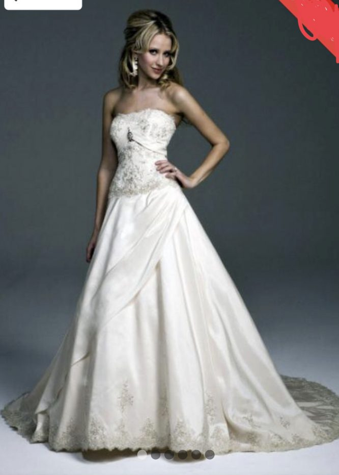 Henry Roth strapless wedding dress | How to sell your wedding dress