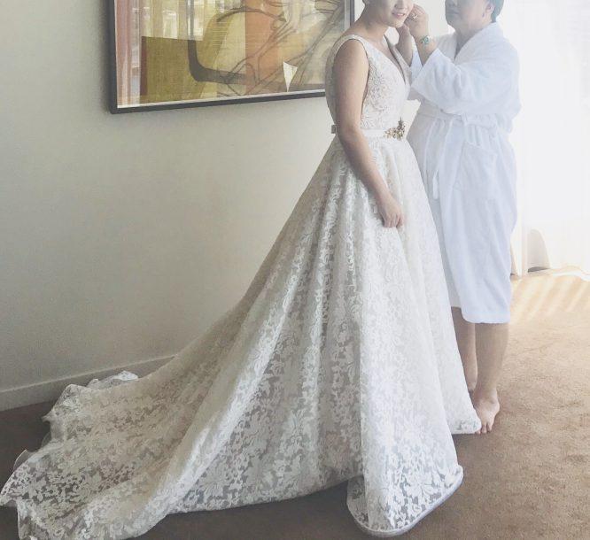 white jean fox bridal wedding dress | pre-loved wedding dress australia