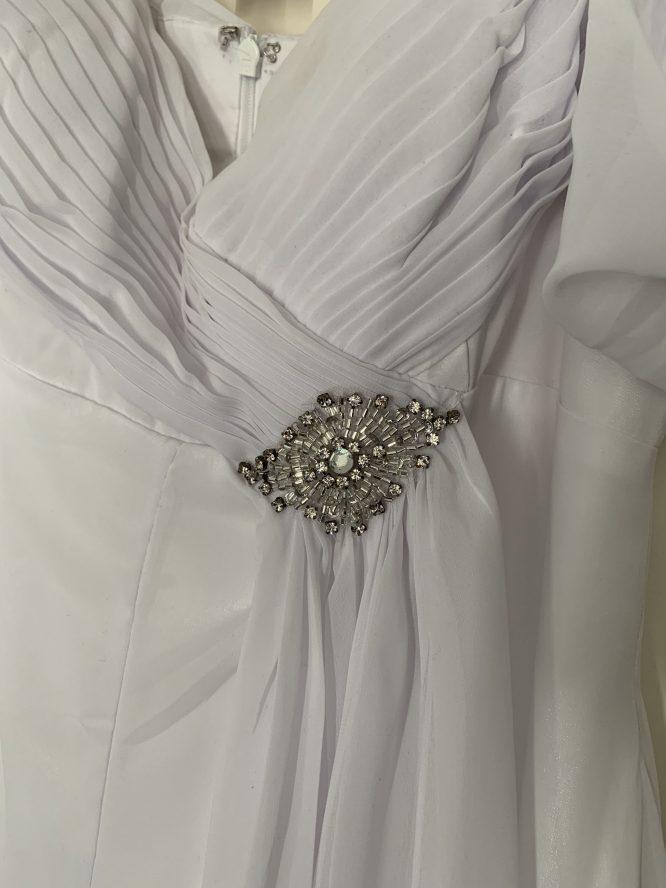 white imoda Greecian style wedding dress | pre-loved wedding dress australia