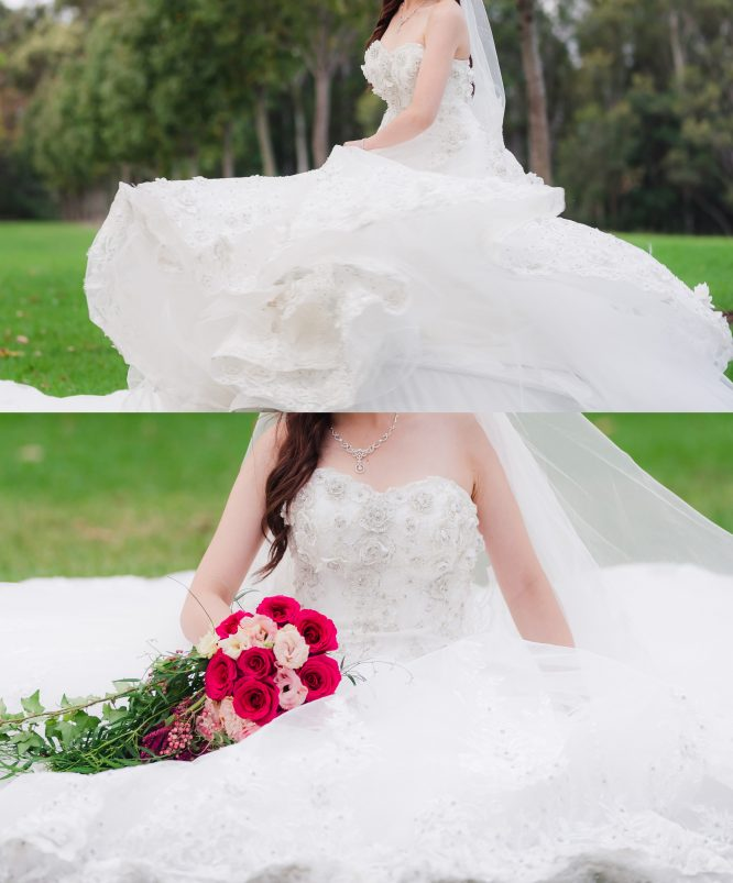 ballgown wedding dress with cathedral train | sell your wedding dress