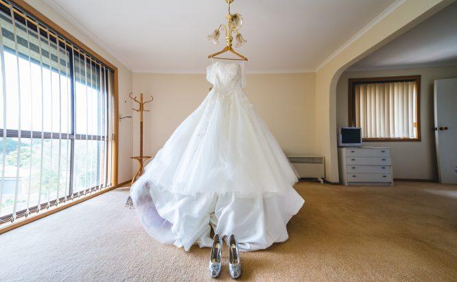 ivory princess style wedding dress | pre-loved wedding dress australia
