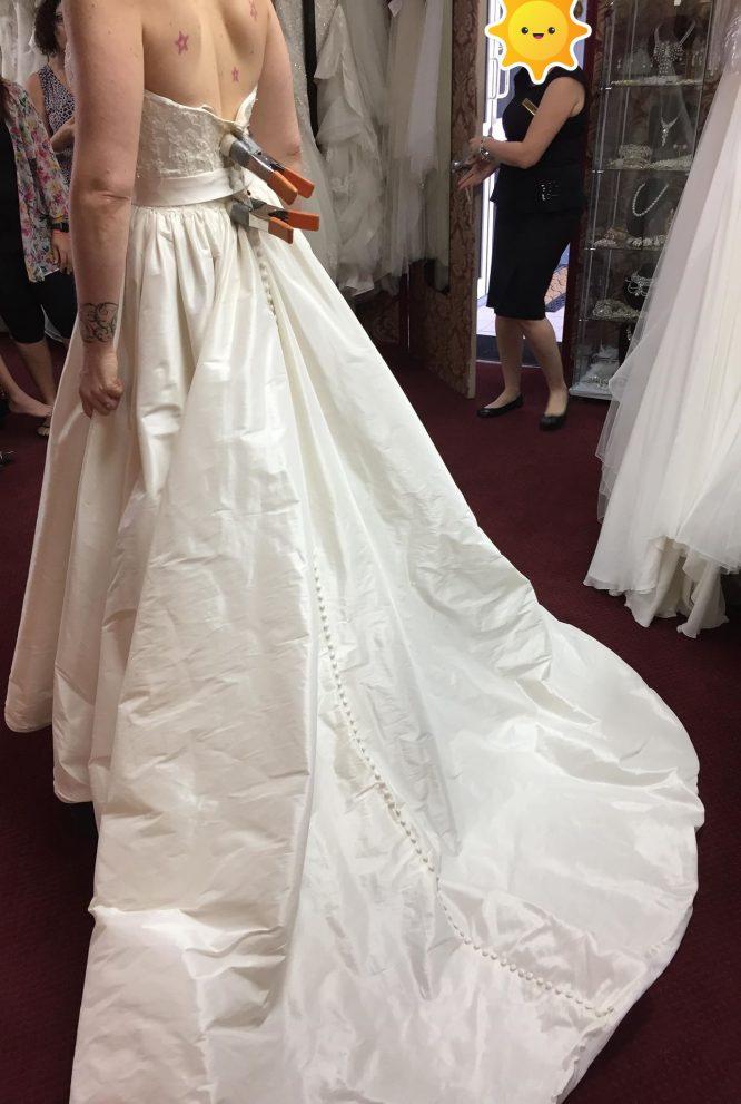 ivory alfred angelo wedding dress | secondhand wedding dress
