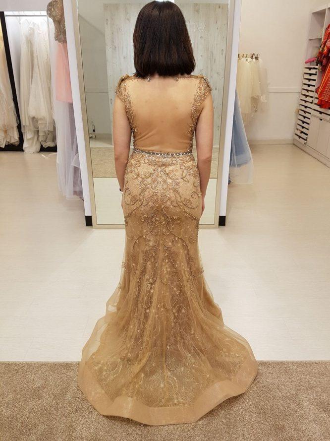 custom gold wedding dress | buy pre-loved wedding dress