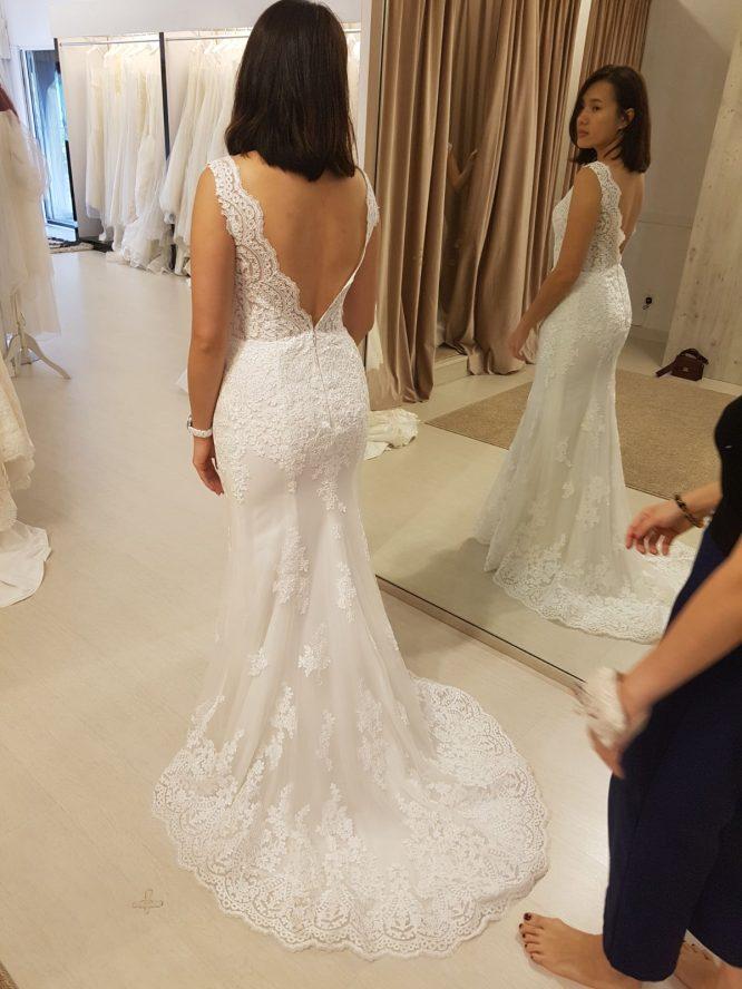 ivory mermaid wedding dress | custom wedding dress australia