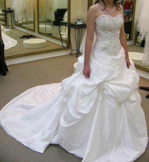 white demetrios wedding dress | secondhand wedding dress
