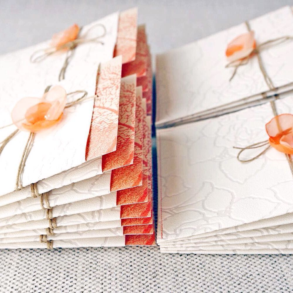 Living colour wedding stationery | living coral wedding