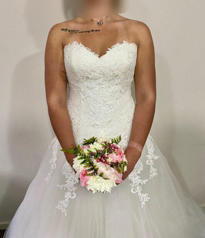 white pronovias wedding dress | second hand wedding dresses melbourne