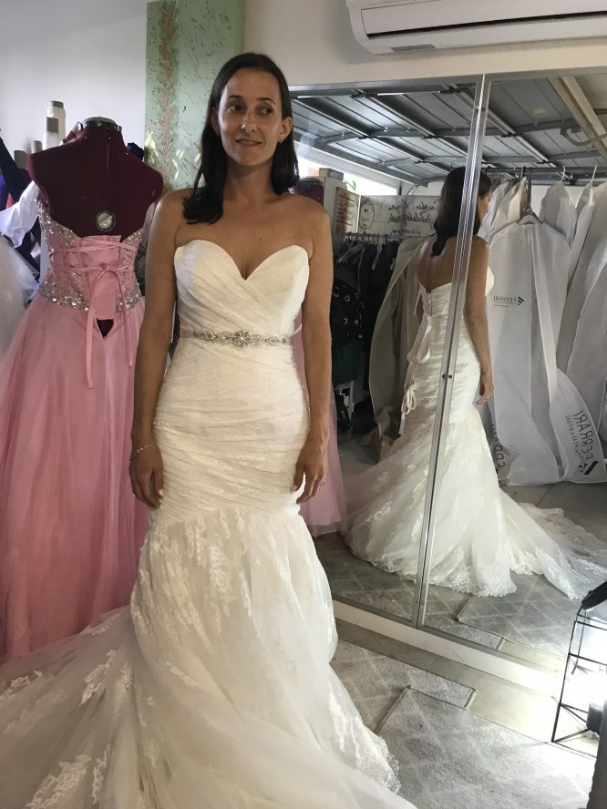 strapless allure wedding dress | hire wedding dress