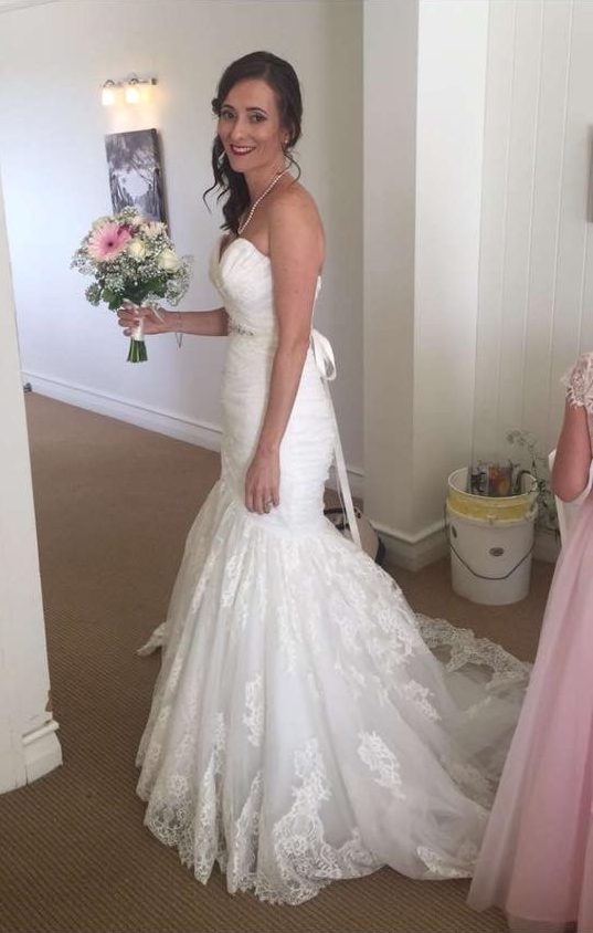 trumpet allure wedding dress | pre-loved wedding dresses australia
