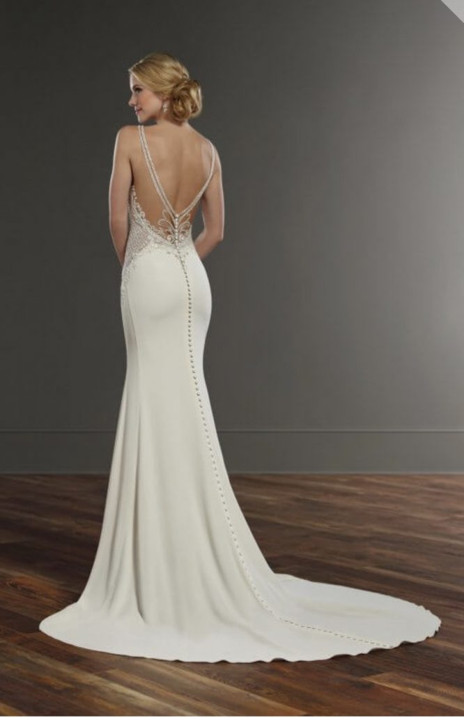 high neck pre-loved wedding dress | wedding dress hire