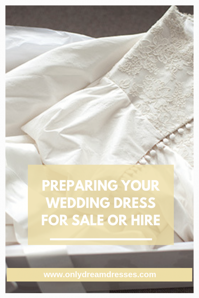 How to store your wedding dress | Preparing your wedding dress for hire
