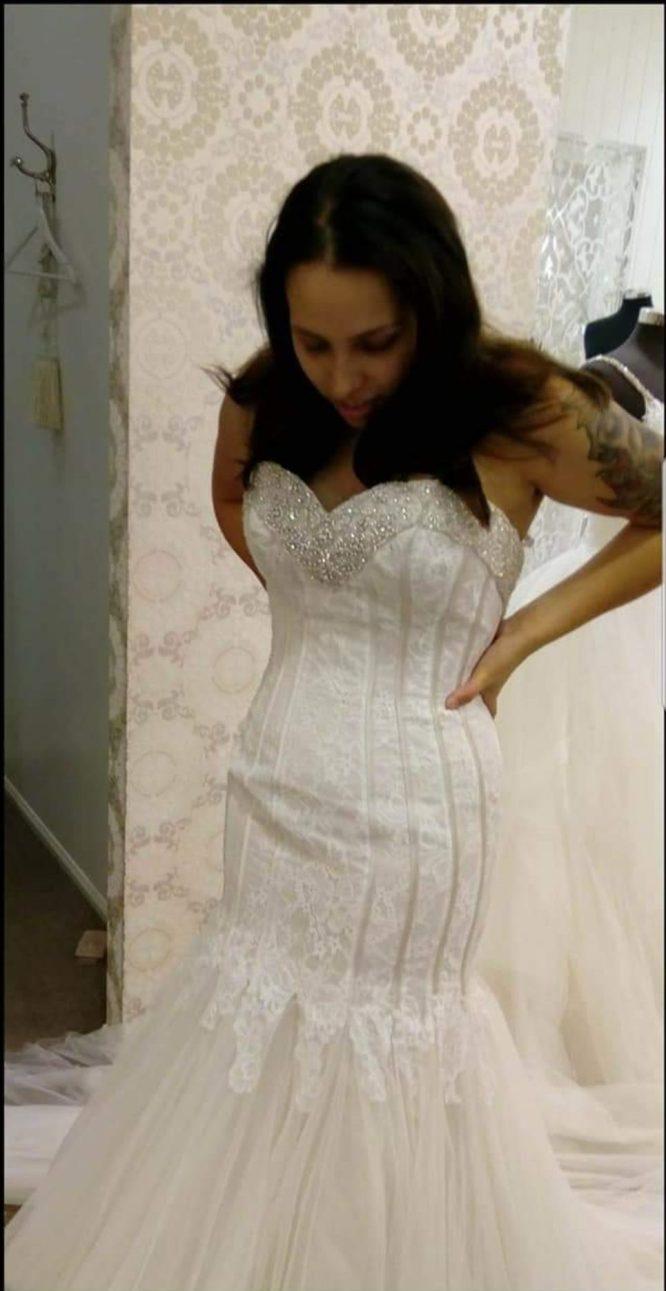 mermaid wedding dress   pre-loved wedding dresses australia