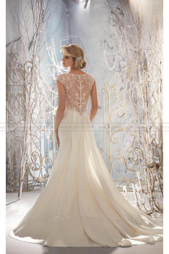 satin mori lee wedding dress | hire wedding dress