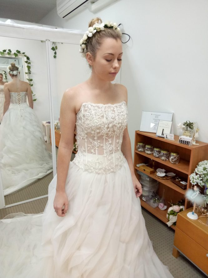 two piece ballgown wedding dress | pre-loved wedding dress