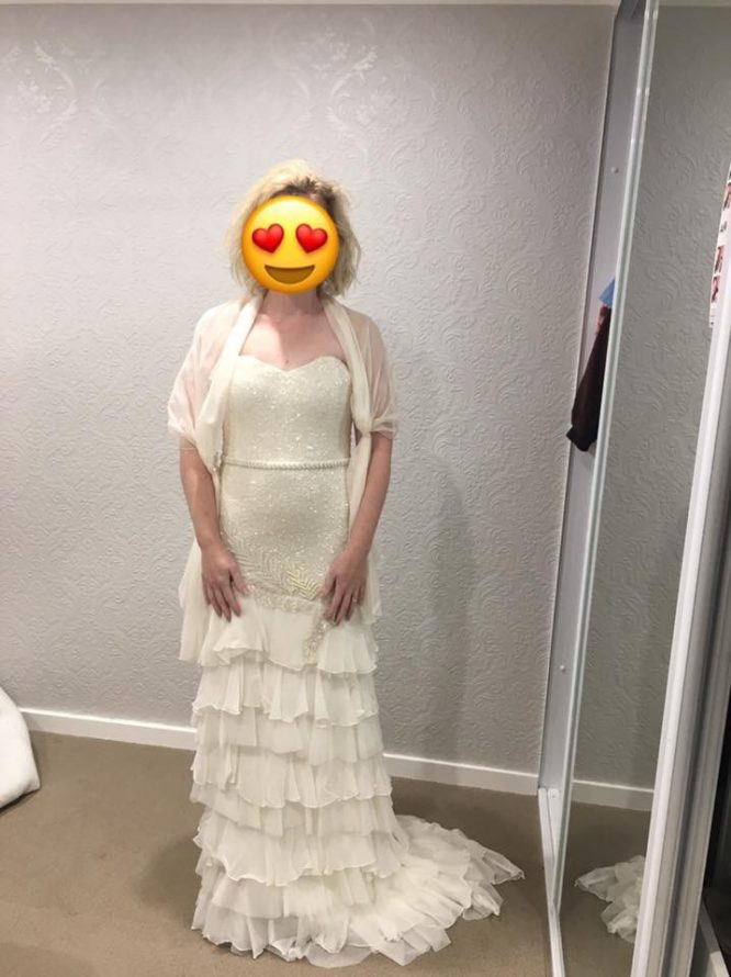 ivory karen willis holmes wedding dress | secondhand wedding dress