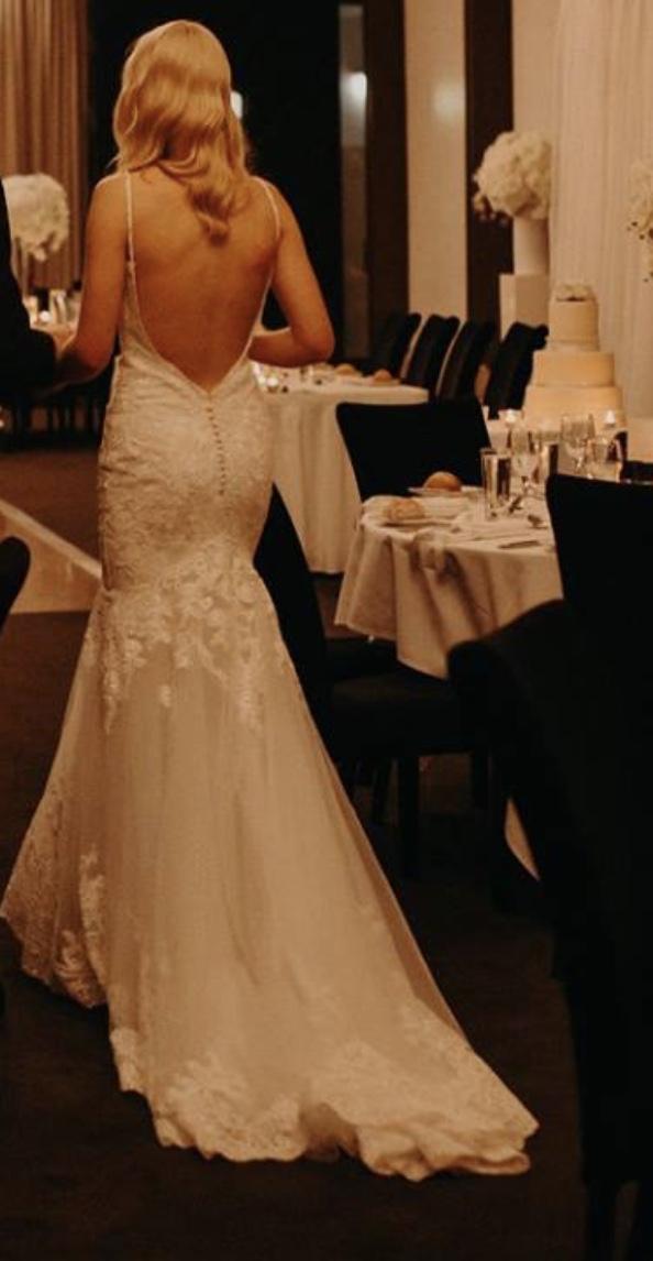 ivory mori lee wedding dress   secondhand wedding dress