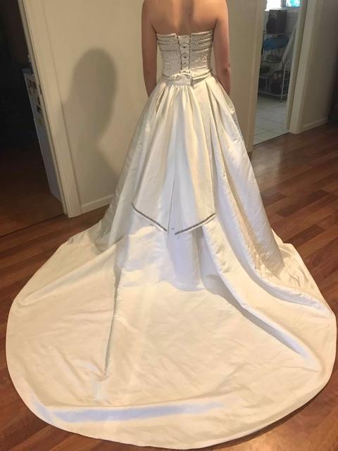 maggie sottero two-piece wedding dress | secondhand wedding dress