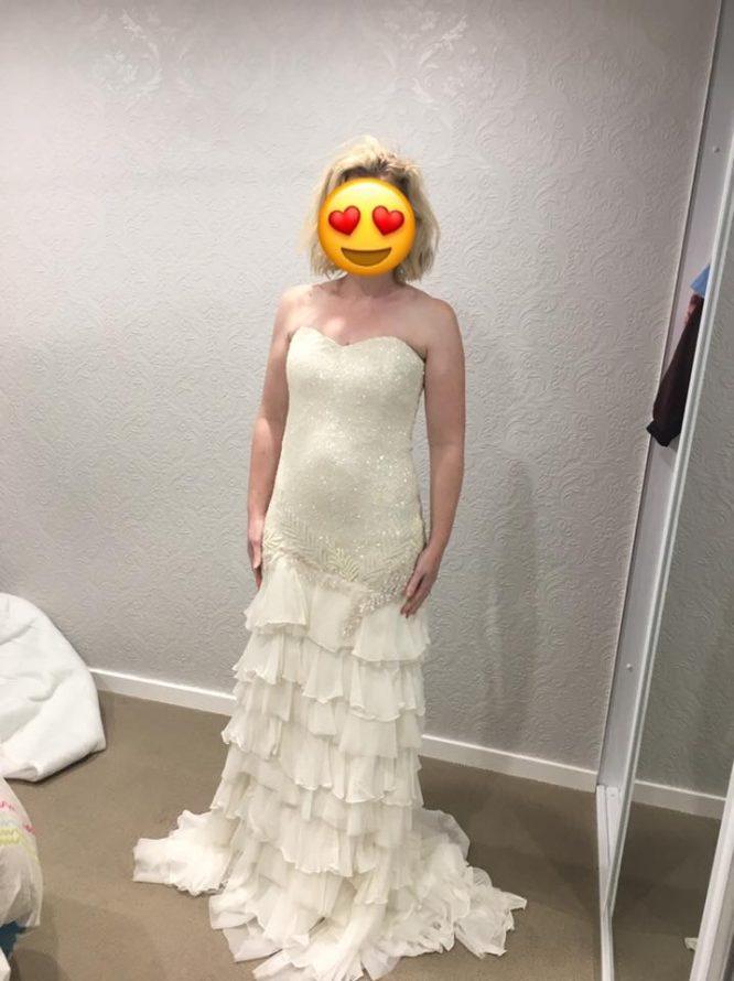 size 12 karen willis holmes wedding dress | sell my wedding dress