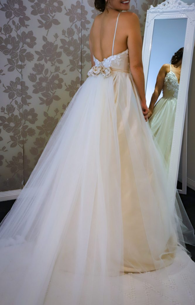 strapless millinity bridal wedding dress | wedding dress hire