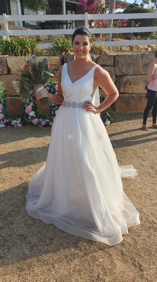 size-12-minimal wedding dress | wedding dress hire brisbane