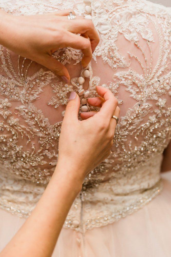 blush allure bridal wedding dress | wedding dress hire
