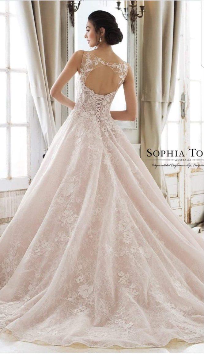 ballgown sophia tolli wedding dress | wedding dress hire