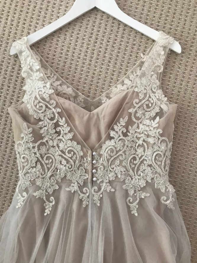 champagne wendy makin wedding dress | wedding dress hire