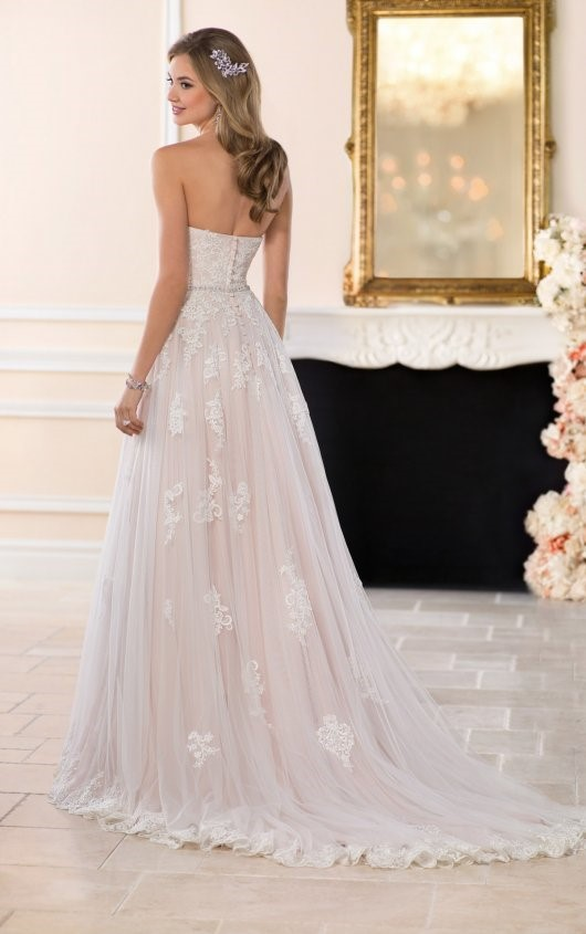 champagne-stella york wedding dress | sell my wedding dress