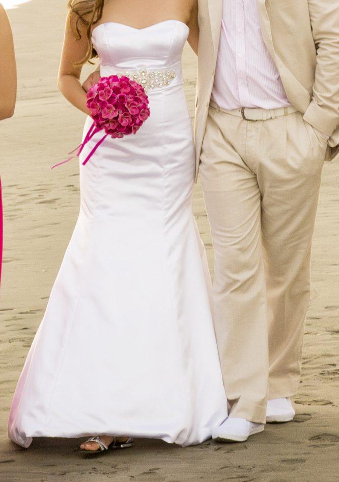 white satin wedding dress | sell my wedding dress