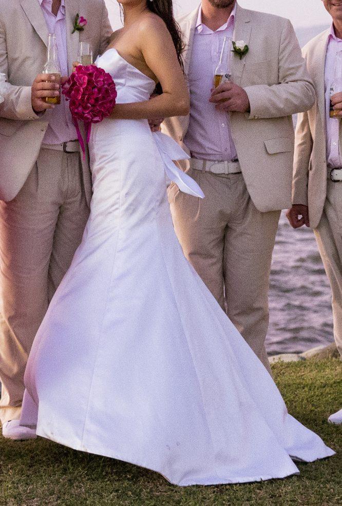 size 10 satin wedding dress | wedding dress hire